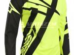 Motokrosový dres AXO Motion 4 Jersey èerno-fluo žlutý