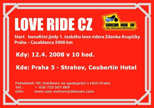 LOVE RIDE made in Czech