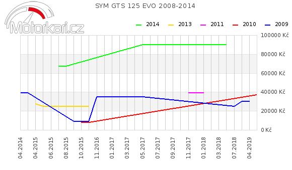 SYM GTS 125 EVO 2008-2014