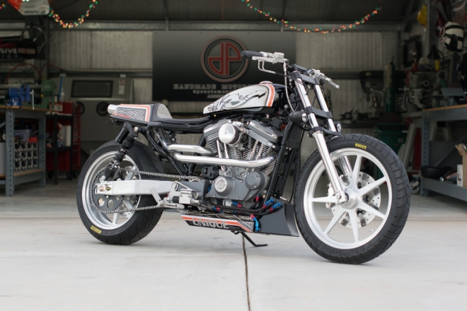 Harley Davidson Sportster jako Street Tracker od DP Customs