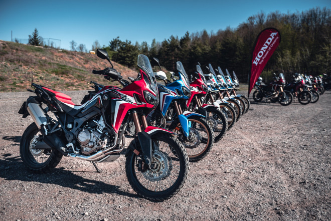 Premiérové akce Africa Twin Test Days a Africa Twin Experience